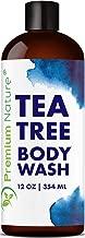 Tea Tree Body Wash Antibacterial - Antifungal Bodywash Tee Tree Essential Oil Soap Cleanser All Natural 100% Pure Shower Gel - Jock Itch Defense Acne Athletes Foot Odor Eczema Ringworm Treatment