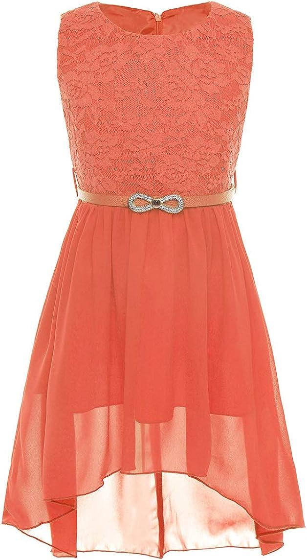 vastwit Kids Flower Girl Chiffon Maxi Dress Sleeveless Tank Top Princess Frock for Wedding Pageant Prom