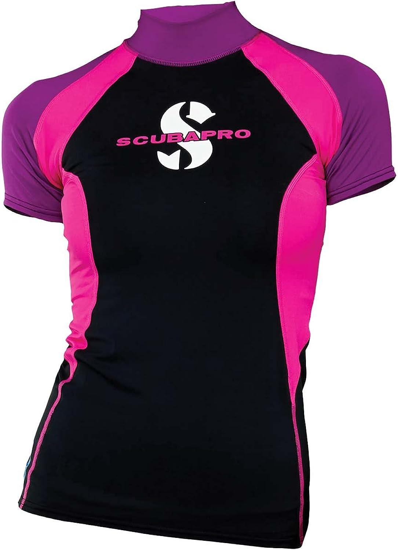 (Small, Jewel) - ScubaPro Women's UPF 80 T-Flex Short Sleeve Rash Guard
