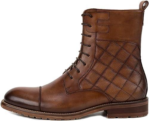 botas Altas para Hombre botas Altas Martin botas Encaje botas De Trabajo De Cuero Chukka Motocicleta botas De Nieve Ocasionales