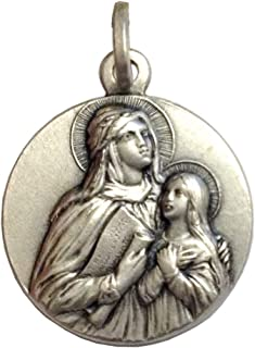 Medaglietta Sant'Anna In Argento 925-925 Sterling Silver Saint Ann Medal