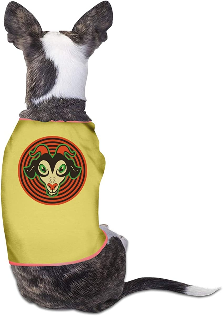 Halloween Goat Small Dog Cat Clothes T Shirt Sleeveless Yell Pet Mail order Los Angeles Mall cheap