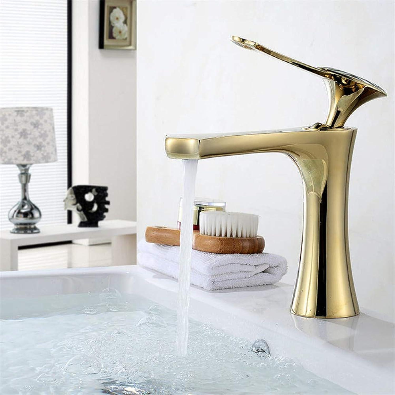 Waschtischarmaturen YHSGY Bad Waschbecken Wasserhahn Messing Waschbecken Wasserhahn Einzigen Handgriff Gold Deck Montiert Waschbecken Mischbatterie Kristall Top Becken Wasserhahn