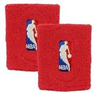 For Barefeet NBA Logoman Wristbands Pair (Red)