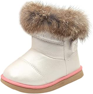 Infant/Toddler Baby Girls Lightweight Outdoor Warm Adorable Snow Boots Winter Child Crib Shoes
