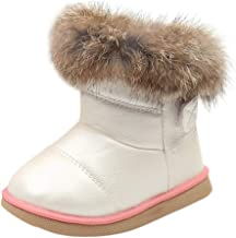 Toddler Baby Girls Boys Snow Boots Fall Winter Warm Shoes 1-6 Years Old,Fashion Kids Child Soft Flat Ankle Bootie