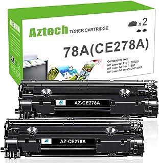 Aztech Compatible Toner Cartridge Replacement for HP 78A CE278A Laserjet P1606dn MFP M1536DNF P1606 M1536 P1560 P1566 (Black, 2-Pack)