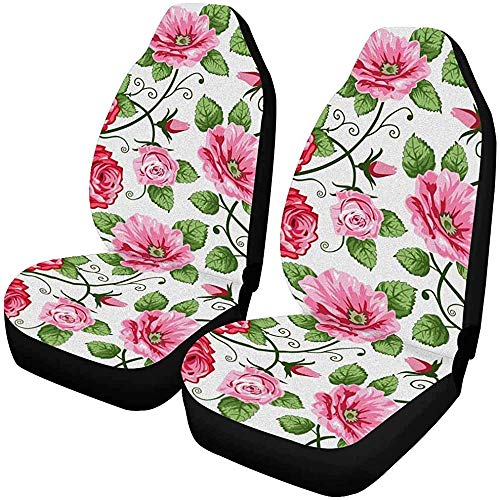 Fall Ing Fundas de asiento delantero para automóvil Flower Roses, coj