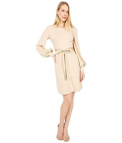 Susana Monaco Cutout Waist Bow Long Sleeve Dress Women
