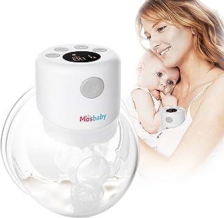 Mosbaby Sacaleches Eléctrico Portátil, 3 Niveles, 12 Potencias, Sin BPA, Silencioso, Recargable por USB para Viajes/Trabaj...