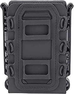 Outry 5.56mm 7.62mm Molle Magazine Pouch, Soft Shell Magazine Holster, Tactical Magazine Carrier for Outdoor Airsoft/BB Gun/CS Game/Hunting/Shooting