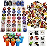 Lulu Home Halloween Stickers and Stamps for Kids, Halloween Assorted Set for Party Favors, Trick-Or-Treat Gift for Kids, 650PCS