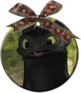 PaOade Toothless How to Train Your Dragon Custom Fashion Round Ceramic Christmas Decorations Gifts Home Ornaments