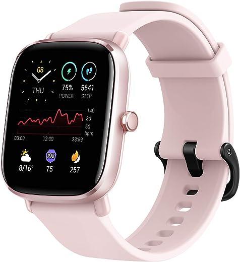 """Amazfit Smartwatch GTS 2 Mini GPS Aktivitätstracker 1,55"""" mit 70 Sportmodi, 14 Tagen Akkulaufzeit, Überwachung von SpO2, Herzfrequenz, Schlaf und…"""