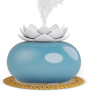 Ceramic Essential Oil Diffuser, Small USB Personal Humidifiers with 200mL Water Tank for Bedroom/Home/Office, 6-16 Hours o...