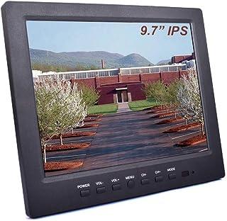 9.7インチ 小型モニター CCTVモニター モニター ディスプレイ 1024x768 HD LCDスクリーン hdmi モニター オーディオ内蔵/アウトポート内蔵スピーカー VGA AV BNC USB ホームラボストアモニタリング用