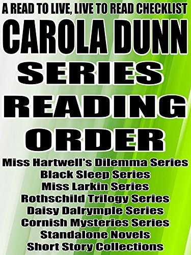 CAROLA DUNN: SERIES READING ORDER: A READ TO LIVE, LIVE TO READ CHECKLIST [ (English Edition)
