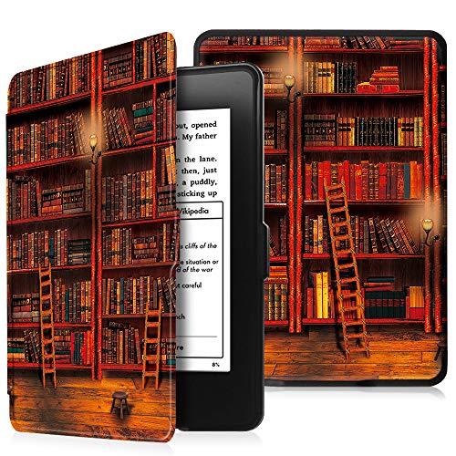 Fintie Hülle für Kindle Paperwhite - Die dünnste und leichteste Schutzhülle mit Auto Sleep/Wake Funktion (Nicht geeignet für das Modell der 10. Generation 2018), die Bibliothek