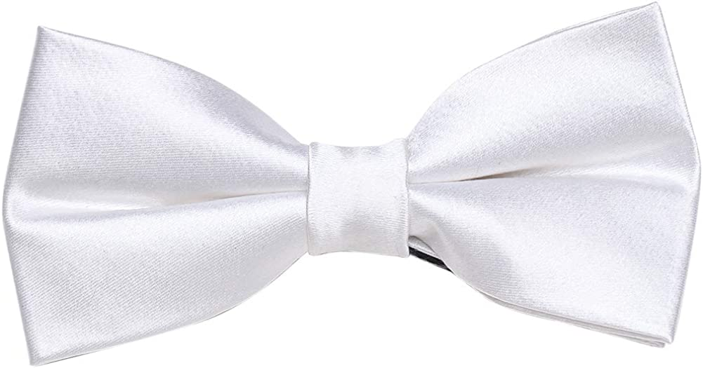 iHomor 100/% Silk Mens Bow tie Bowtie Tuxedo Wedding Solid Color Formal Bow Ties for Man