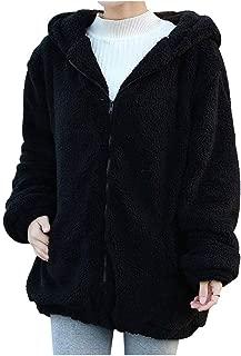 Acquista Autunno Inverno Uomo Nero Orso Orecchio Halloween Con Cappuccio Finto Visone Cappotto Di Pelliccia Uomo Uomo Felpe Con Cappuccio Cappotti