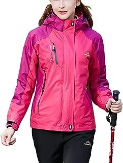 BIYLACLESEN Women's Winter Jackets 3-in-1 Parka Jacket Warm Fleece Softshell Jacket Coat Ski Snowboard Jacket