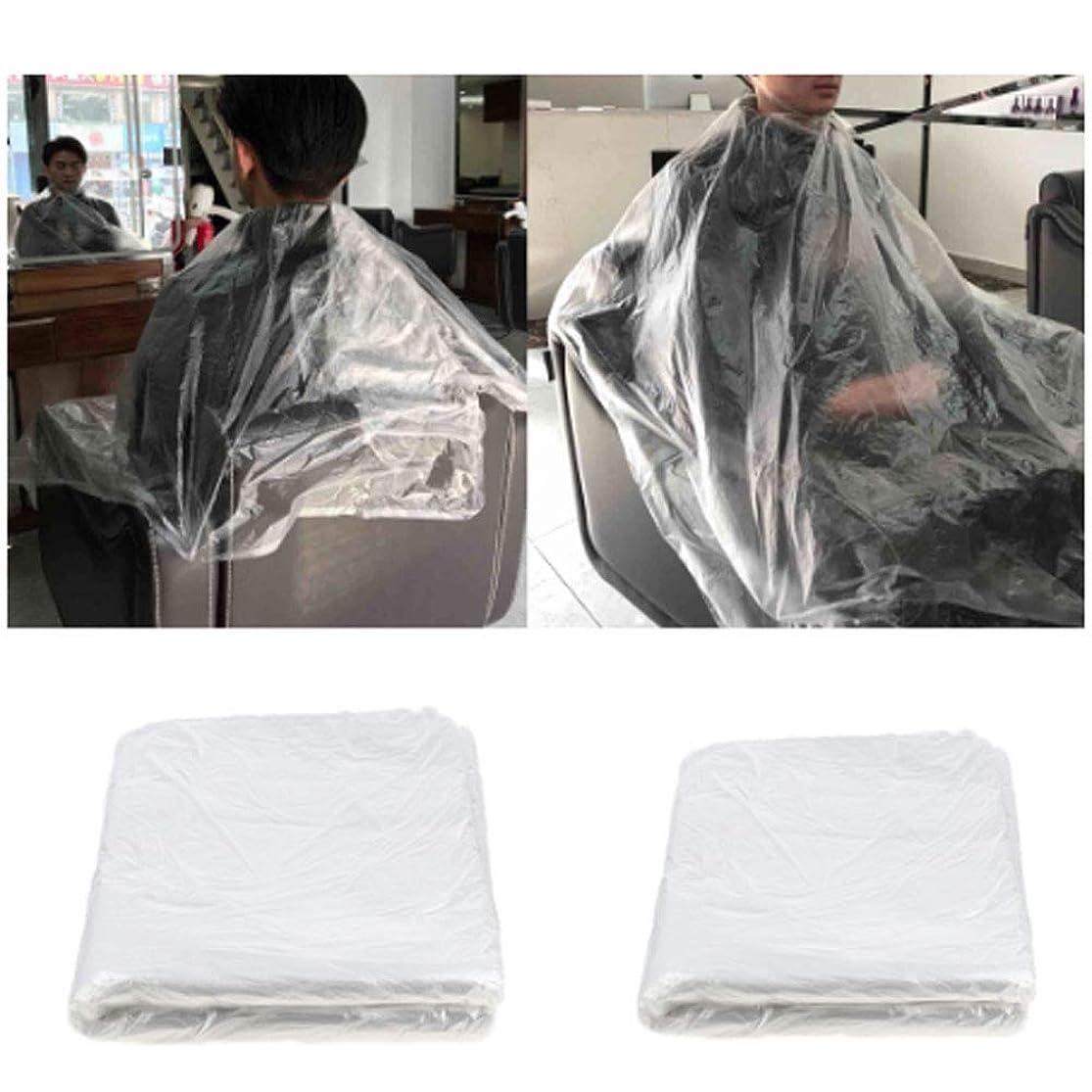 息苦しいアンペア秘書150 x使い捨てケープヘアサロンショールプラスチック防水ヘアトリミングツール110 x 150 cm理髪店または家庭用