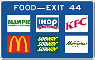 Traffic Signs - for Food, Gas, Lodging, etc. Specific Service Signs 12 x 18 Aluminum Sign Street Weather Approved Sign 0.04 Thickness