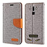 Doogee S90 Case, Oxford Leather Wallet Case with Soft TPU