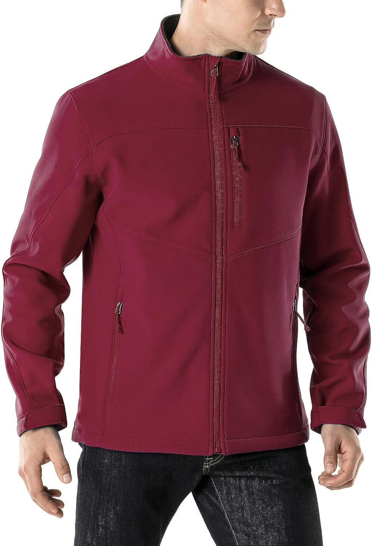 TSLA Super-cheap Men's Full-Zip Softshell Manufacturer OFFicial shop Winter Waterproof L Jacket Fleece