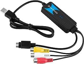 VTOP Capturadora Video y Audio USB 2.0 - VHS a DVD Digital Convertidor/Grabadora DVD USB - Capturadora digitalizadora de vídeo para Windows 10 & Mac OS Catalina (10.15)