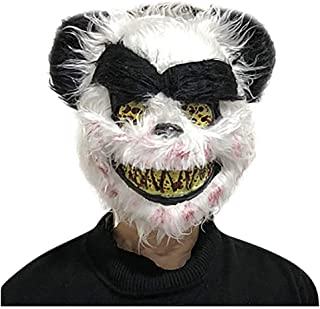 Novelty Animal Head Mask Halloween Costume Party Bloody Panda Bear Wolf Shape Mask Scary Face Off Over The Head Mask for Men Women