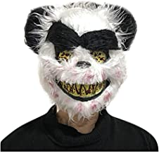 Shan-S Halloween Bloody Rabbit Horror Bear Animal Mask Plush Masks Cosplay Bunny Scary Mask Prank Evil Bloody Masquerade Toy Props for Party Costume