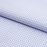 Hans-Textil-Shop Stoff Meterware Vichy Karo 2x2 mm Hellblau