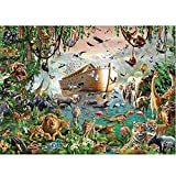 Smklcm Apprentissage Cognition Monde Animal véritable 4000 Pièces Dur Puzzle Animaux de Adulte Arche de Noé du Monde Puzzles Puzzle en Bois 86 * 118cm intellectuelle Jouets