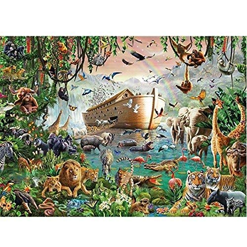 WUJINJ Learning Cognition dier Wereld Echte 4000 Stuks Hard Puzzle dier wereld Noah's ark volwassen Raadsels houten puzzel 86 * 118cm intellectuele speelgoed