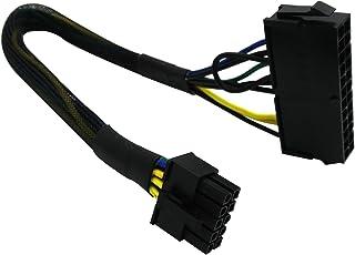 كابل كُبل مجدول لمحول الطاقة الرئيسي ATX PSU من 24 دبوس إلى 10 دبوس من ATX PSU لأجهزة الكمبيوتر وخوادم IBM Lenovo 12 بوصة ...