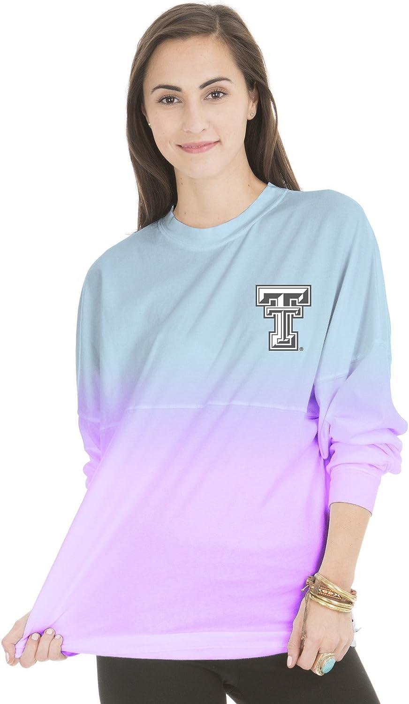 NCAA Womens Tess Long Sleeve Ombre Football Tee