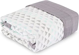 aden + anais Oversized Blanket; 100% Viscose from Bamboo; 4 Layer Lightweight and Breathable; 60 X 70 inch; Skylight Birch