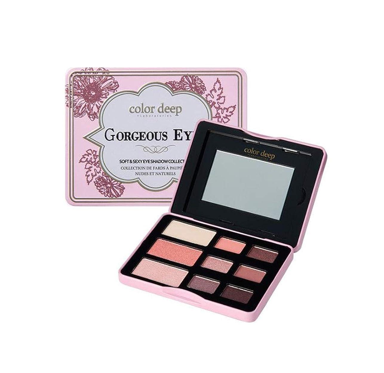 とんでもないに沿って学習Color Deep 9Color Gorgeous Eyeshadow Paletteアイシャドウパレット(並行輸入品)