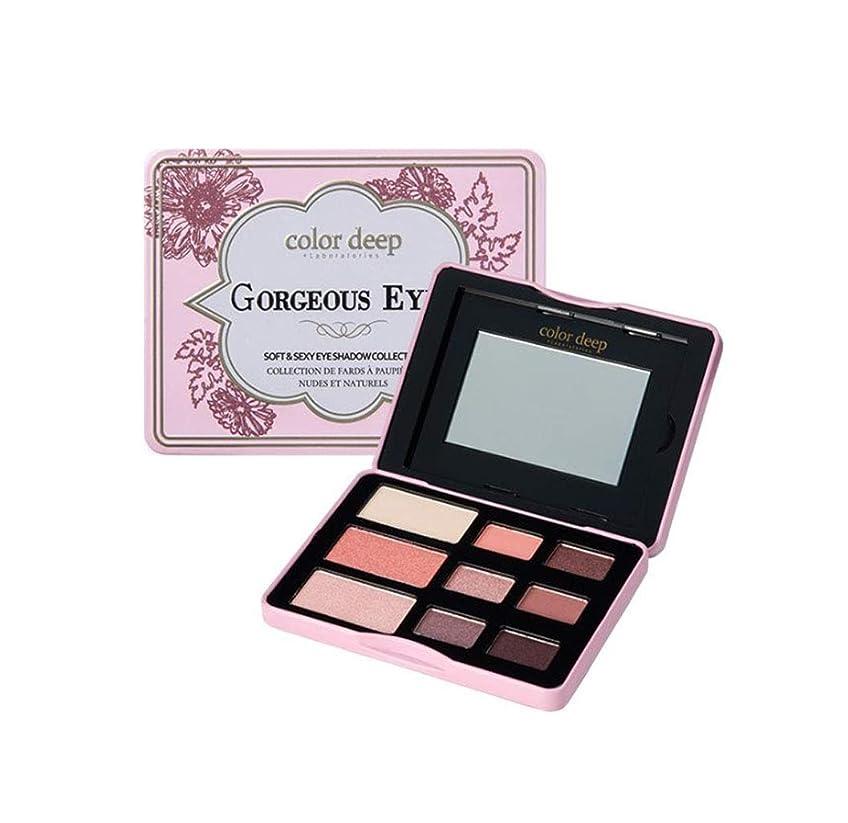 先入観追い付く肌寒いColor Deep 9Color Gorgeous Eyeshadow Paletteアイシャドウパレット(並行輸入品)