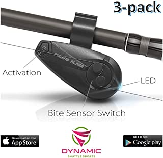 Dynamic Shuttle Sports Smart Bluetooth Fishing Rod, Fishing Pole FishBite Alarm with Electronic Fishing Bite Alarm Indicator for Mobile Phones