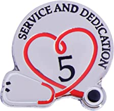 TCDesignerProducts 5 Year Medical Service Award Pin with Stethoscope