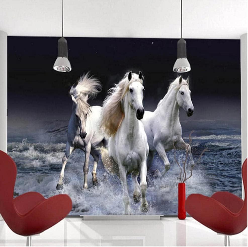 N\ A Photo Wallpaper 3D High quality Luxury Stereo Splash Spray Horse Landscap White