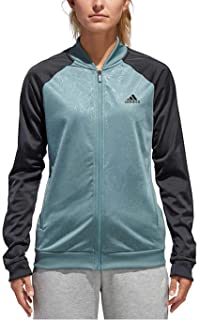adidas Women s Embossed Print Track Jackets Full-Zip Climalite Jacket 60f2e704f