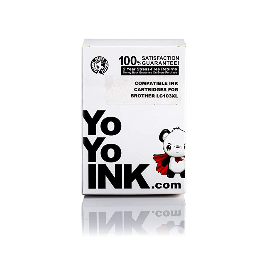 YoYoInk Compatible Ink Cartridge Replacement for Brother LC-103XL (4 Black, 2 Cyan, 2 Magenta, 2 Yellow; 10-Pack)