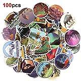 HOWAF 100pcs Viaggio Vinile Graffiti Adesivi Sticker Decals Pack, Impermeabile per Auto Pc Computer Moto Bicicletta Laptop Automobili Chitarra Skateboard Bagagli Valigia Bici Motociclette Casco
