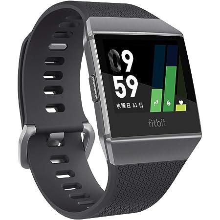 [GPS搭載]Fitbit Ionic スマートウォッチ Charcoal/Smoke Grey L/Sサイズ FB503GYBK-CJK