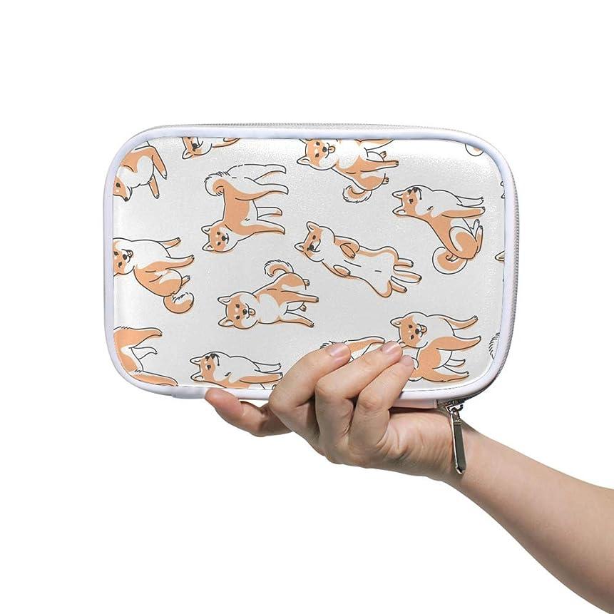親密なデザイナー手首ZHIMI 化粧ポーチ メイクポーチ レディース コンパクト 柔らかい おしゃれ コスメケース 化粧品収納バッグ 可愛い 柴犬柄 機能的 防水 軽量 小物入れ 出張 海外旅行グッズ パスポートケースとしても適用