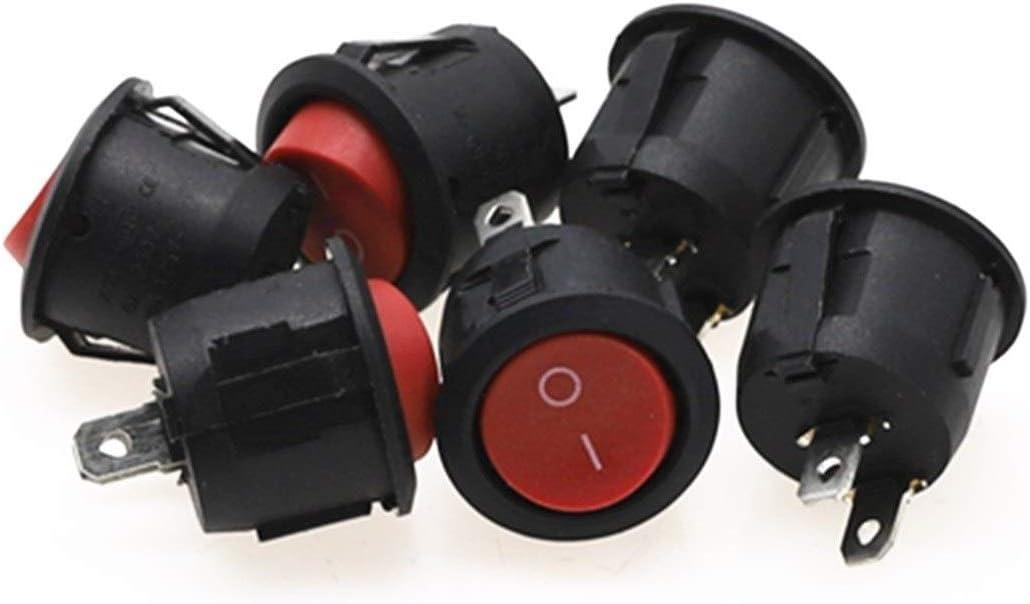 ZHENXKJ Switch wholesale Turn 6Pcs 20mm Bla Rocker Round Max 65% OFF Switches Diameter