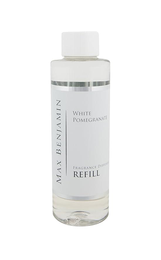 仮定好戦的なタバコMax Benjamin リードディフューザー詰め替えオイル - 白 ポメラネート 150ml。 最大16Wの香り。 安全な無炎で一定の香り。